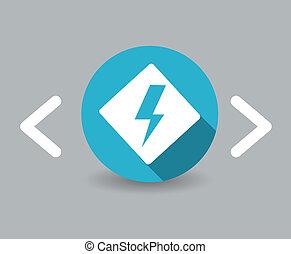 flat design energy icon