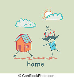 people catching home
