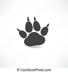 animal tracks icon