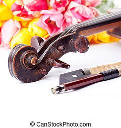Black old violin