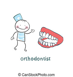 orthodontist with the jaw
