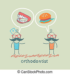 orthodontist says to the patient's teeth and eating