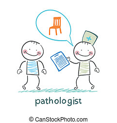 Pathologist with the patient says about the occupational...