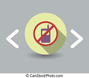 phone is prohibited icon