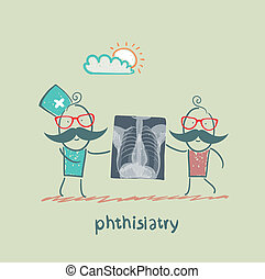 phthisiatry chest X-ray shows