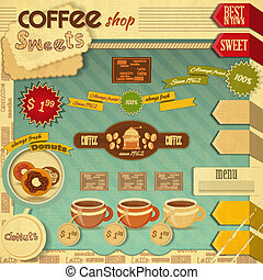 Coffee Shop Design - Vintage Design of Coffee and Sweet Shop...