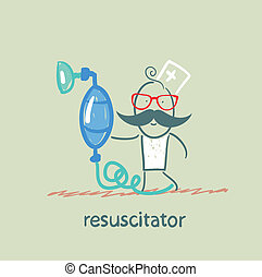 resuscitation with oxygen mask