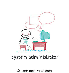 system administrator communicates with people from your...