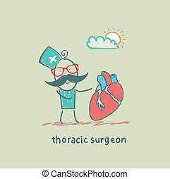 thoracic surgeon with a heart