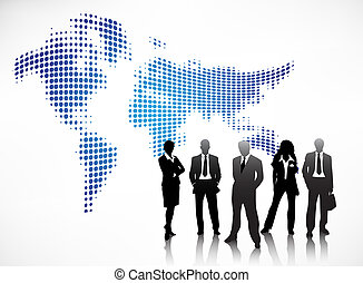 Business concept - Vector illustration of business people
