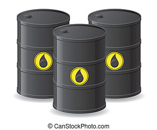 black barrels for oil vector illustration isolated on white...