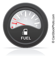 fuel level indicator vector illustration isolated on white...