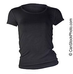 womens blank black t-shirt template - womens blank black...