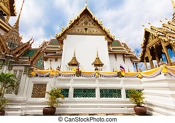 The Grand Palace, Bangkok. Thailand . Wat Phra Kaeo - The...