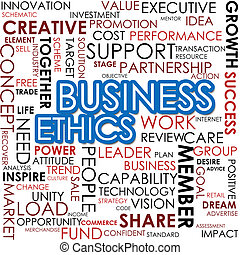 Time management word cloud - Business ethics word cloud...