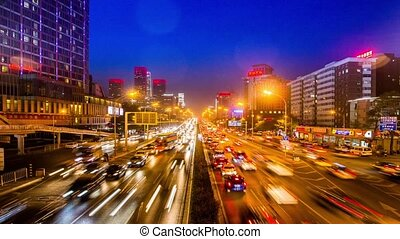 The traffic on the highway of BJ - The traffic on the...