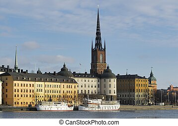 Riddarholmen in central Stockholm.