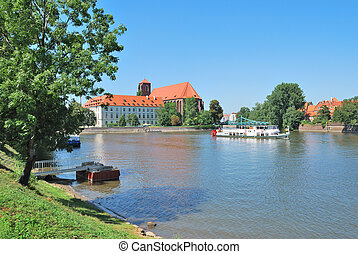 Wroclaw Oder Riverside - Wroclaw, Polish Republic The Oder...