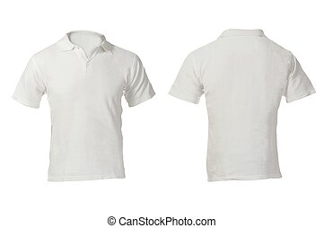 Men's Blank White Polo Shirt Template - Men's Blank White...