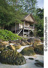 bungalow in koh rong island beach in cambodia - bungalow in...