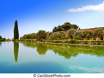 Villa Adriana- ruins of an imperial country house in Tivoli...