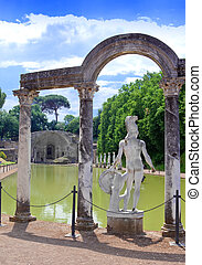 Villa Adriana- ruins of an imperial Adrian country house in...