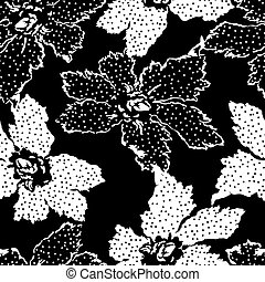 Seamless Pattern With Floral Background .