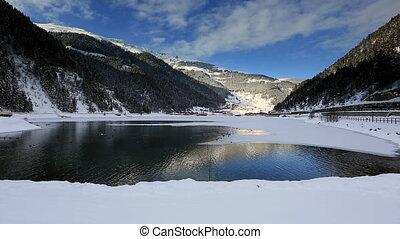 Long Lake - very famous place Long Lake at Trabzon Turkey