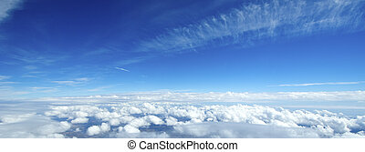 Aerial view of sky and clouds
