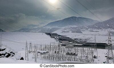 power plant time lapse