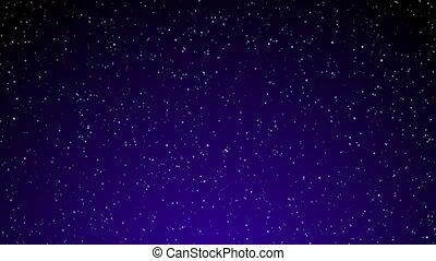 Snow on Purple Gradient Loop