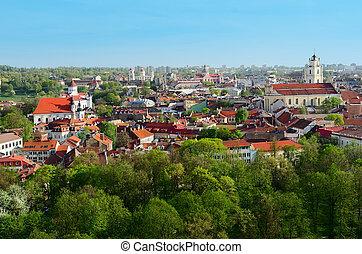 Panorama of Vilnius. Lithuania