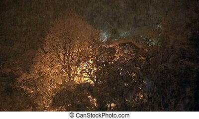 snowy - heavy snowfall in winter
