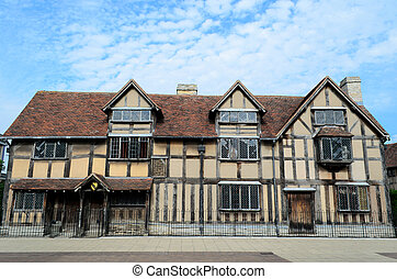 Birthplace of Shakespeare - The timbered house in...