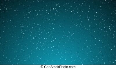 Snow on Light Blue Gradient Loop