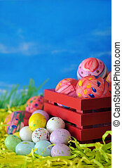 eggs for Easter day - random real painting (ugly look) on...