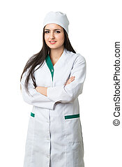 intern at a doctors smock - young intern at a doctors smock...
