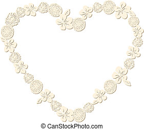 Heart Shaped Flower Frame - Scalable vectorial image...