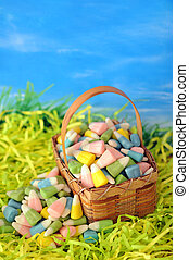 colorful corn candy for Easter day