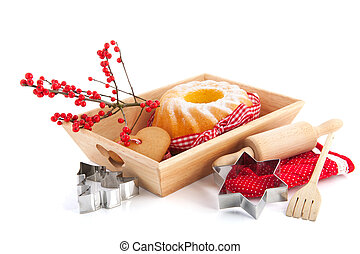 Baking sweet for Christmas - Baking turban and cookies for...
