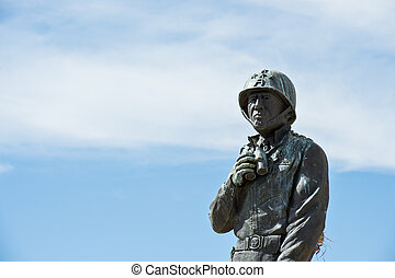 Statue of General Patton - Detail of a statue at the General...