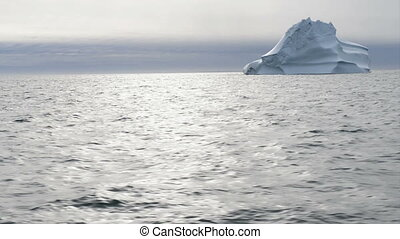 Iceberg - Beautiful iceberg in arctic waters around Disko...