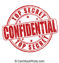 Top secret, confidential stamp - Top secret, confidential...