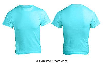 Men's Blank Blue Shirt Template