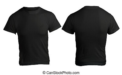 Men's Blank Black Shirt Template - Men's Blank Black Shirt,...