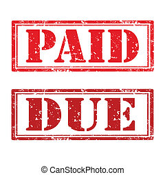 Paid and due stamp