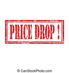 Price Drop-stamp - Grunge rubber stamp with text Price...
