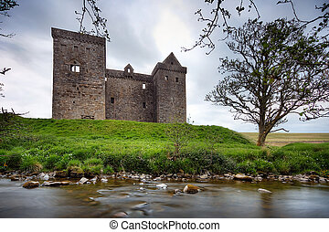 Hermitage Castle, a Tower House and keep style castle near...