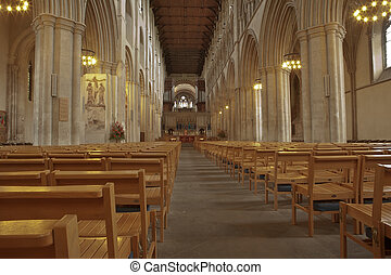 The Cathedral & Abbey Church of Saint Alban - Inside of view...