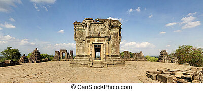 Pre Rup Temple, Angkor Wat, Cambodia - Panoramic image of...